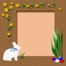 Free Easter Scrapbook Frame Stock Image - 4182241