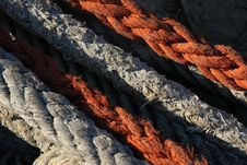 Red And White Ropes Royalty Free Stock Photography