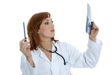 Free Young Doctor With Stethoscope Royalty Free Stock Photography - 4182377