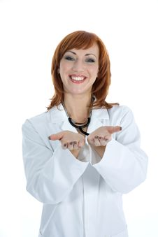Free Young Doctor With Stethoscope Royalty Free Stock Image - 4182406