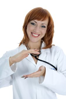 Free Young Doctor With Stethoscope Royalty Free Stock Image - 4182726