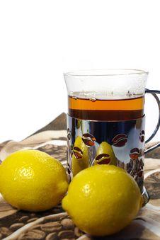 Free Black Tea Whith  Lemon Stock Photos - 4182763