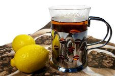 Free Black Tea Whith Lemon Royalty Free Stock Image - 4182816