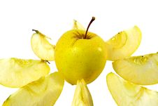 Free Freshness Yellow Apple Stock Photos - 4183123