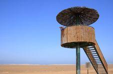 Birdwatching Tower (Punta Del Fangar, Spain) Royalty Free Stock Images