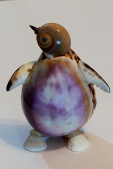Penguin Made From Shell Royalty Free Stock Image