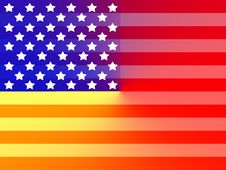 Free Primary American Flag Stock Photography - 4184112