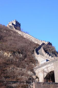 Free Part Of The Great Chinese Wall Royalty Free Stock Photo - 4184885