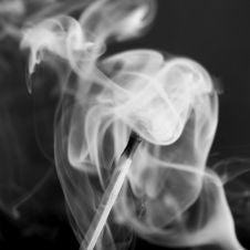 Free Smoke Swirling Around Match Stock Image - 4185141