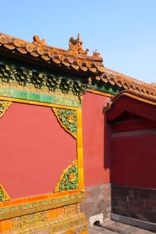 Free Part Of Wall In Forbidden City Royalty Free Stock Photography - 4185367