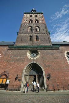 Riga Cathedral Entrance Royalty Free Stock Image
