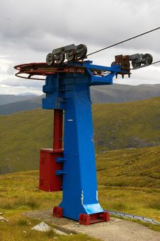 Free Ski Lift Pulley Royalty Free Stock Photos - 4187078