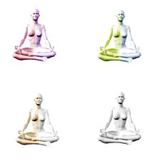 Unique Sitting Meditation Yoga Poses Stock Photography