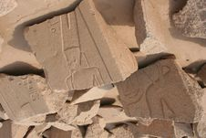 Free Ancient Egyptian Figures On The Ruins Of Karnak, L Royalty Free Stock Photography - 4187377
