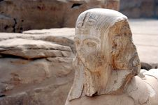 Ancient Statue At Karnak Temple Royalty Free Stock Photography