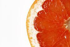 Slice Of Grapefruit Royalty Free Stock Photos