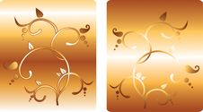 Free Ornament Gold Flower Stock Photos - 4188483