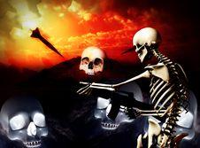 War Skeleton War Background Stock Photo