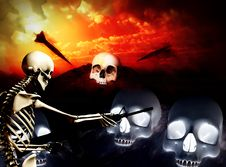 Free War Skeleton War Background 3 Stock Photography - 4188832