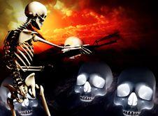 War Skeleton War Background 4 Stock Images