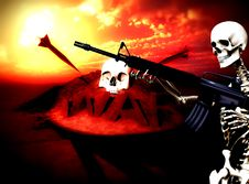 Free War Skeleton War Background 3 Stock Image - 4188871