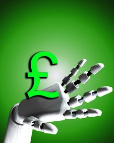 Free Robo Hand And Money 6 Stock Images - 4188904