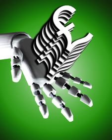 Free Robo Hand And Money 8 Royalty Free Stock Images - 4188919