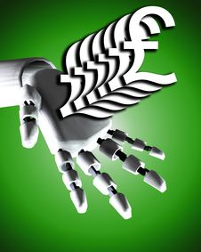Free Robo Hand And Money 9 Royalty Free Stock Photos - 4188928