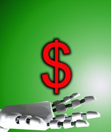 Free Robo Hand And Dollar 8 Royalty Free Stock Photos - 4188958
