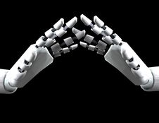Free Pair Of Robo Hands Royalty Free Stock Photo - 4189005
