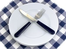 Free Served Table For Eating In Cafe Stock Images - 4189184