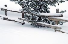Free Snow Fence Royalty Free Stock Images - 4189259