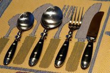 Free Seeing Double  - Cutlery Royalty Free Stock Images - 4189279