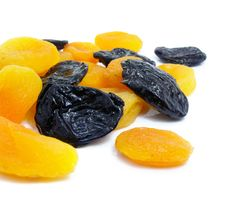 Free Dried Apricot And Black Plum Fruits Stock Photo - 4189340