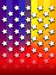 Free Primary Rainbow Stars & Stripes Stock Photos - 4189503