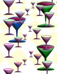 Free Martini / Wine Glasses Stock Image - 4189661