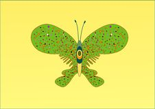 Free A Green Butterfly - Vector Illustration Stock Photography - 4189782