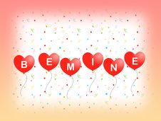 Free Be Mine Greeting Card Royalty Free Stock Photos - 4189988