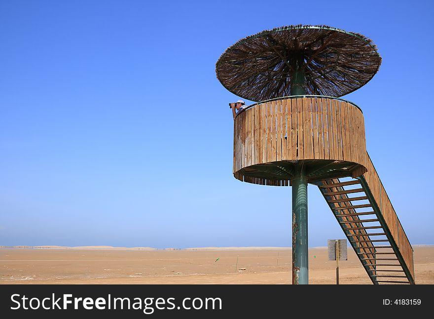 Birdwatching tower (Punta del Fangar, Spain)