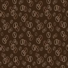 Seamless Pattern With Coffee Beans. Vector Illustration. Background. Stock Images