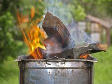 Free Firewood In The Brazier Stock Photography - 41851042
