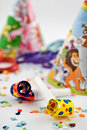 Free Party Blowers With Party Hats And Confetti Royalty Free Stock Photos - 4194568