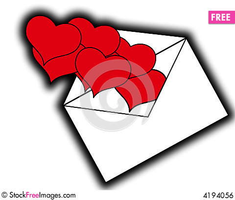 Free Love Hearts From Letters 5 Royalty Free Stock Image - 4194056