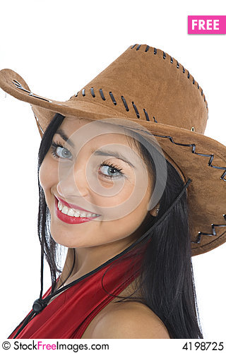 Free Sexy Woman In Cowboy Hat Royalty Free Stock Photo - 4198725