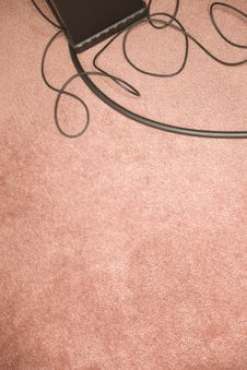 Wires On Carpet Stock Images