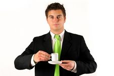 Free Businessman With Coffe Stock Photos - 4190753