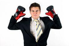 Free Boxing Businessman Stock Image - 4192241