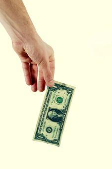 Free Hand Holding Dollar Bill Stock Photos - 4193323
