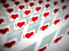 Free Love Squares 1 Royalty Free Stock Images - 4194079