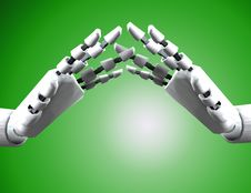 Free Pair Of Robo Hands 5 Royalty Free Stock Photo - 4194155